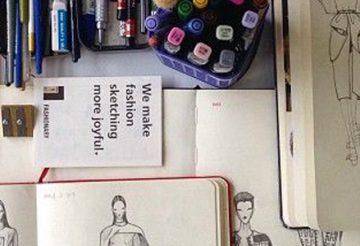 matériel pour croquis de mode